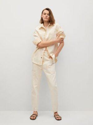 Mango  Denim overhemdjasje met gewassen effect