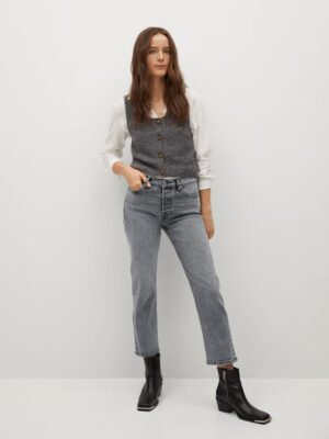 Mango  Rechte enkellange jeans