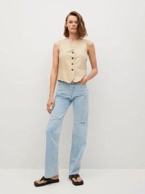 Mango  High-waist straight-fit jeans