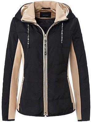 Lichtgewicht-jas van FUCHS & SCHMITT. Afkledend en praktisch. Hoogwaardige materiaalmix van zandkleurige jersey van 62% viscose