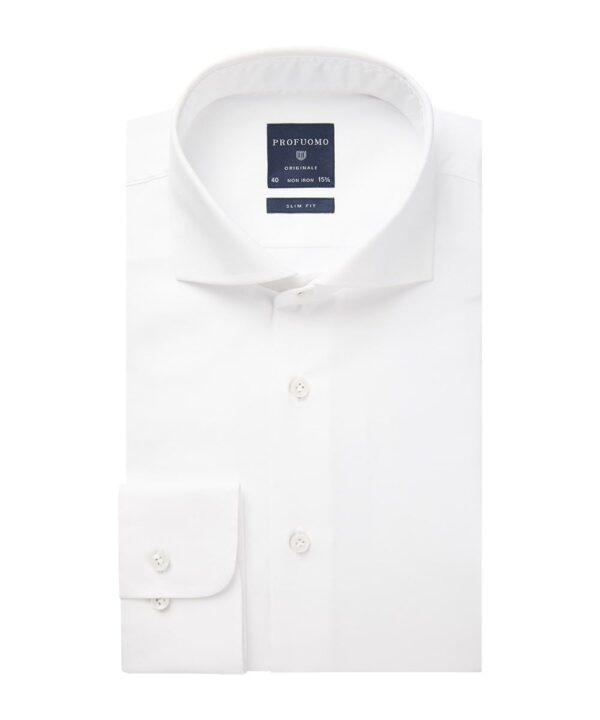 Profuomo heren wit twill overhemd Originale