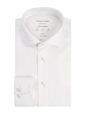 Profuomo heren high performance wit overhemd Originale