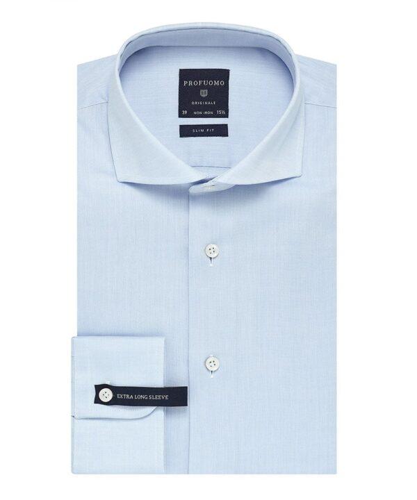 Profuomo heren blauw overhemd extra lange mouw
