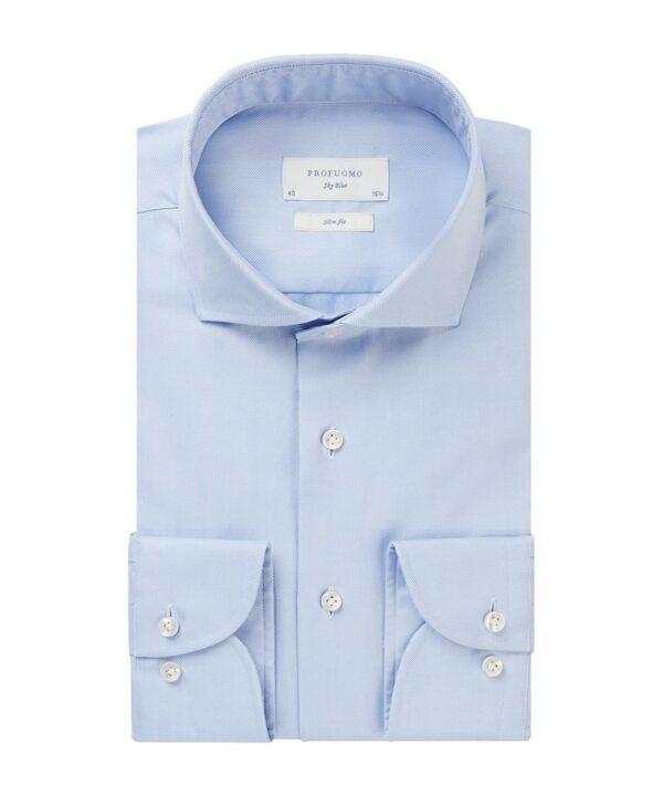 Profuomo heren licht blauw oxford overhemd Sky Blue
