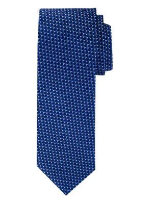 Profuomo heren navy structuur zijden stropdas