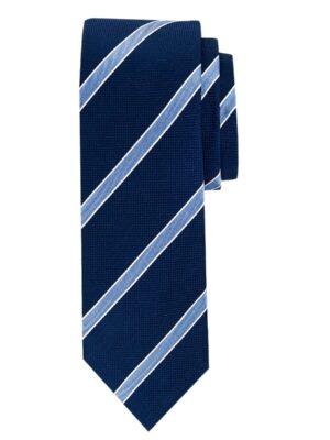 Profuomo heren navy streep zijden stropdas