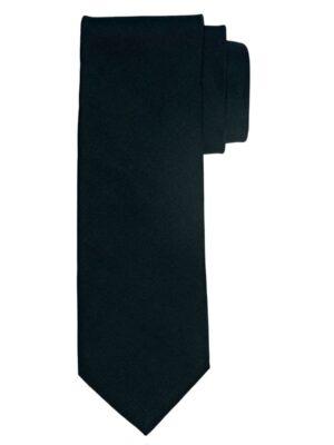 Profuomo heren zwart ribs zijden stropdas