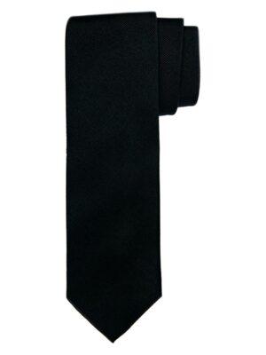 Profuomo heren zwarte uni zijden stropdas