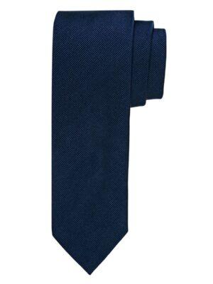 Profuomo heren navy uni zijden stropdas