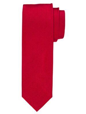 Profuomo heren rode uni zijden stropdas