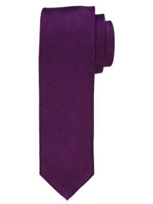 Profuomo heren aubergine uni zijden stropdas