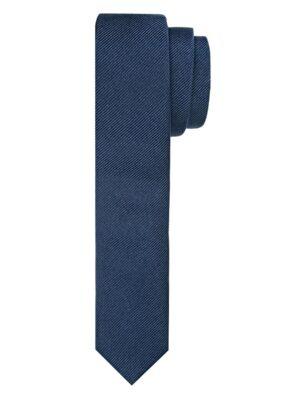 Profuomo heren navy super smalle zijden stropdas