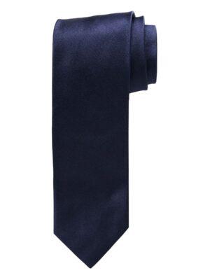 Profuomo heren navy royal satijn-zijden stropdas
