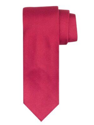 Profuomo heren rode imperial oxford 7-fold zijden stropdas
