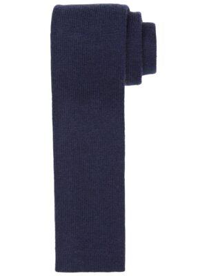 Profuomo heren navy knitted kasjmier stropdas