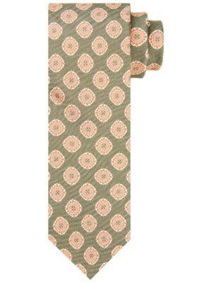Profuomo heren groene bloemenprint stropdas