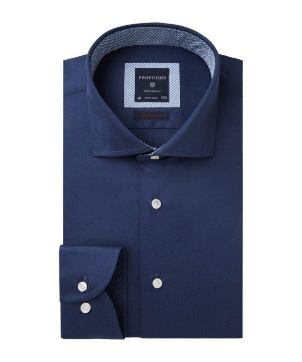 Profuomo heren navy super slim fit overhemd Originale