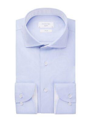 Profuomo heren wit oxford overhemd Sky Blue