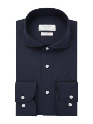 Profuomo heren navy soft constructed overhemd Sky Blue