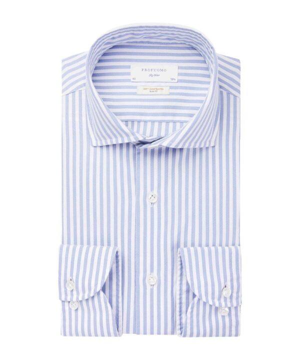 Profuomo heren blauw soft constructed overhemd Sky Blue