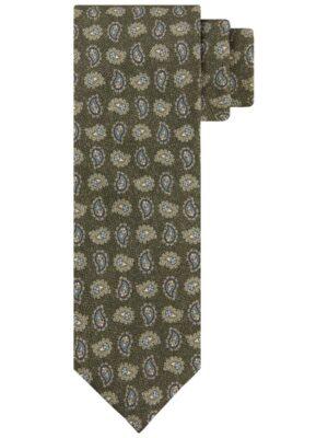 Profuomo heren groene zijden stropdas