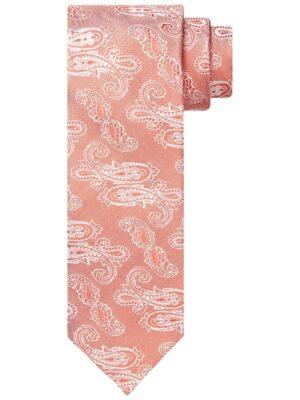 Profuomo heren koraal zijden stropdas