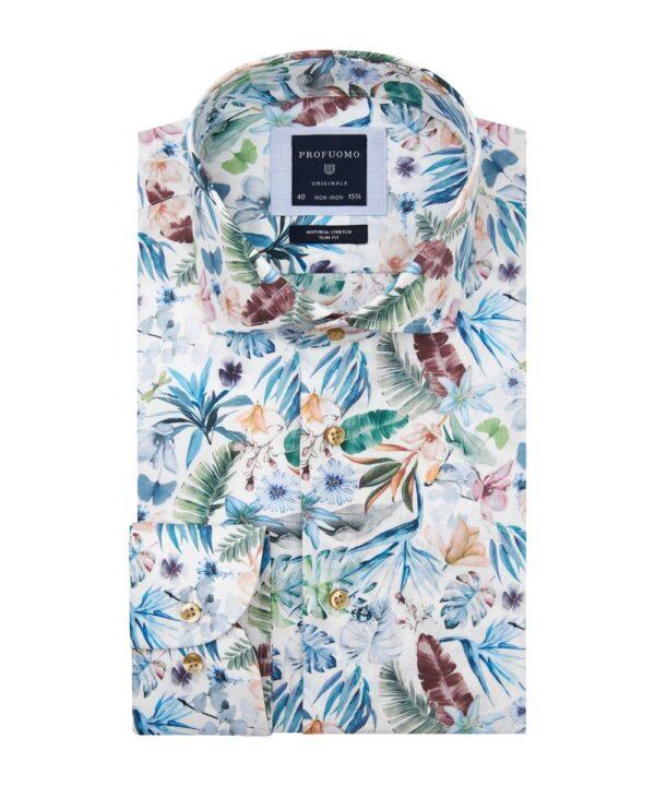 Profuomo heren bloemenprint overhemd Originale