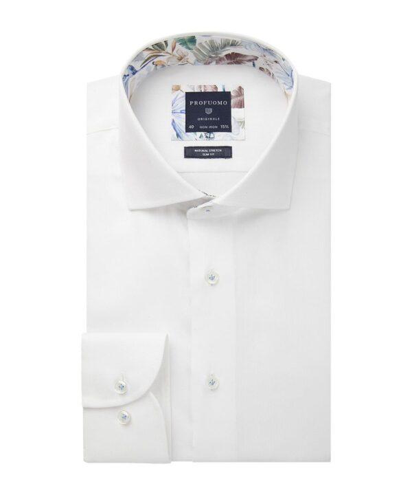 Profuomo heren wit dobby overhemd Originale