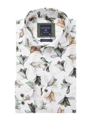 Profuomo heren bloem print linnen one-piece overhemd Originale