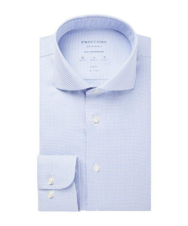 Profuomo heren high performance blauw overhemd Originale