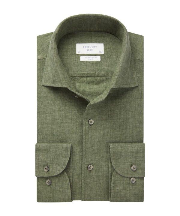 Profuomo heren groen one piece linnen one-piece overhemd Sky Blue