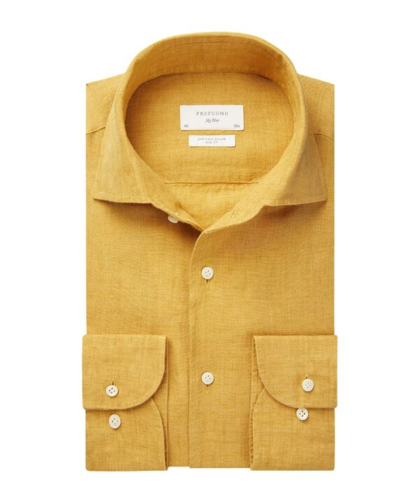 Profuomo heren geel one piece linnen one-piece overhemd Sky Blue