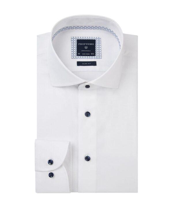 Profuomo heren wit strijkvrij overhemd Originale