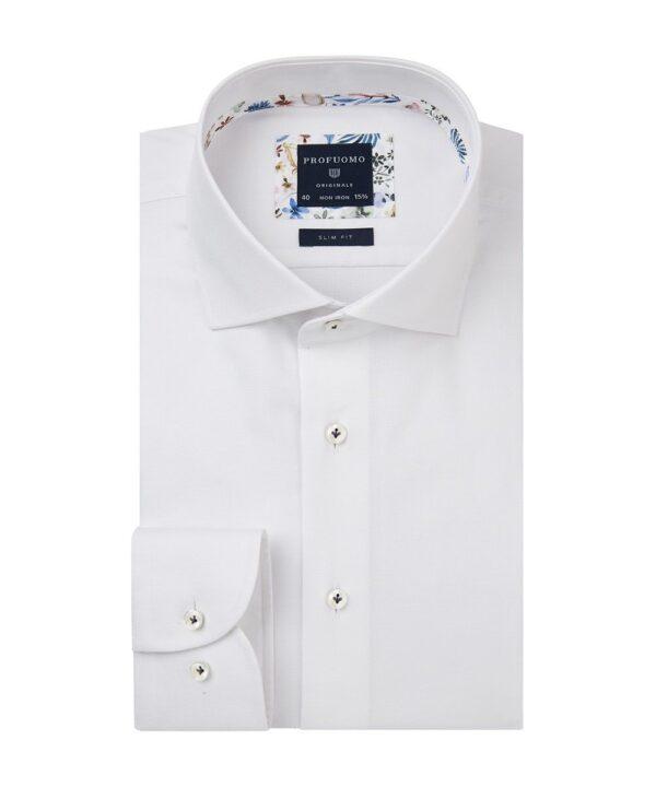 Profuomo heren wit slim fit overhemd Originale