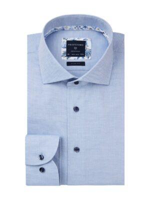Profuomo heren blauw slim fit overhemd Originale