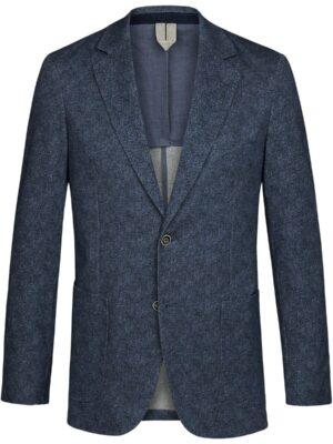 Profuomo heren blauw knitted colbert