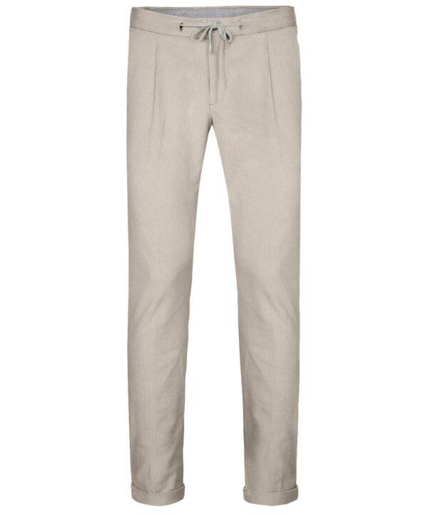 Profuomo heren beige corduroy sportcord broek