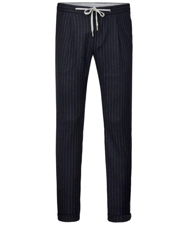 Profuomo heren navy flanellen sportcord broek