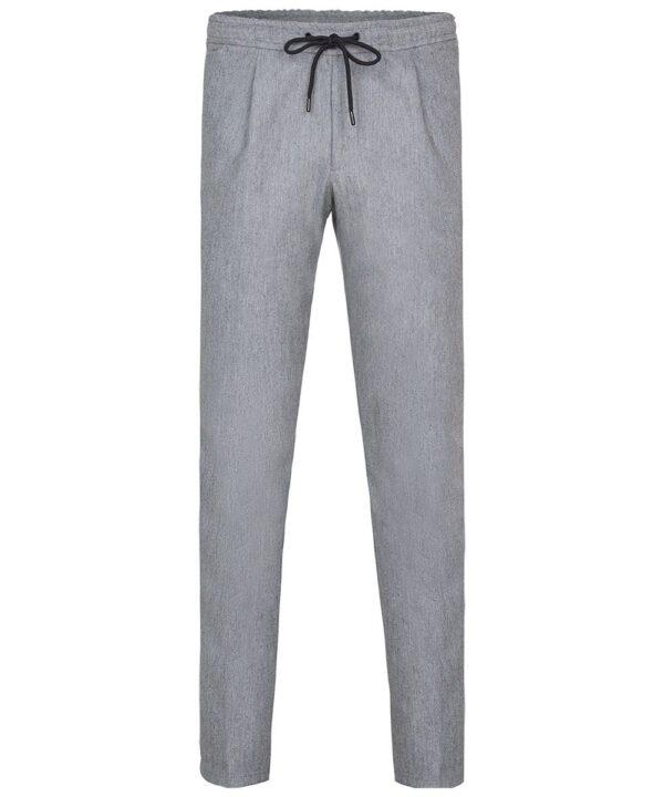 Profuomo heren grijze flanellen sportcord broek