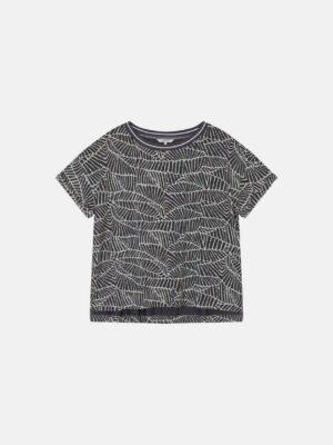 Sandwich NL Dit T-shirt met brede hals en natuurlijke print heeft een rechte fit en korte mouwen. De top wordt gekenmerkt door een natuurlijke print