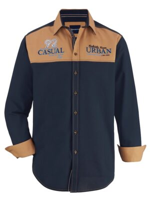 Babista Overhemd BABISTA Marine::Okergeel