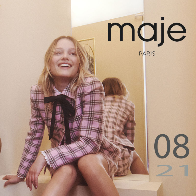 Pops-Fashion.com damesmode Maje Paris collectie herfst 2021