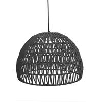 Hanglamp Rope - Zwart - Stof - L