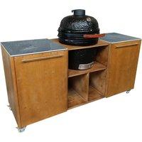 Buitenkeuken BBQ | 180 cm | Donkerbruin