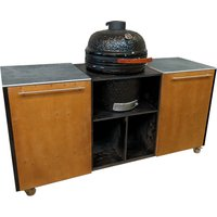 Buitenkeuken BBQ | 180 cm | Donkerbruin - zwart