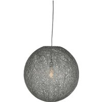 Hanglamp Twist - Grijs - Vlas - M