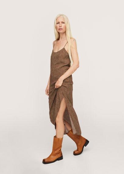 Mango  Soepelvallende jurk met print