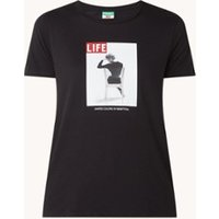 Benetton T-shirt met print en ronde hals
