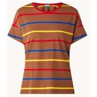 Benetton T-shirt met ronde hals en streepprint