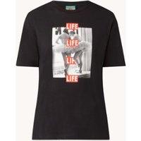 Benetton Life T-shirt met print met ronde hals